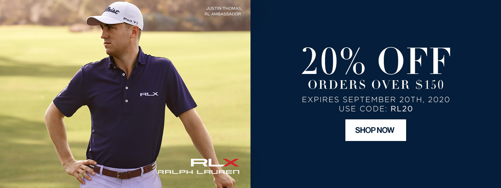 RLX Ralph Lauren - 20% off orders over $150 - Expires September 20th, 2020, Use Code: RL20
