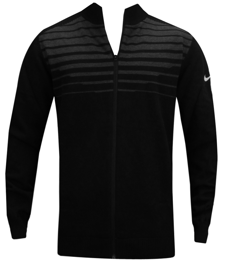 NIKE WIND RESIST FULL ZIP SWEATER BLACK - AW14 619826-010 CLOSEOUT
