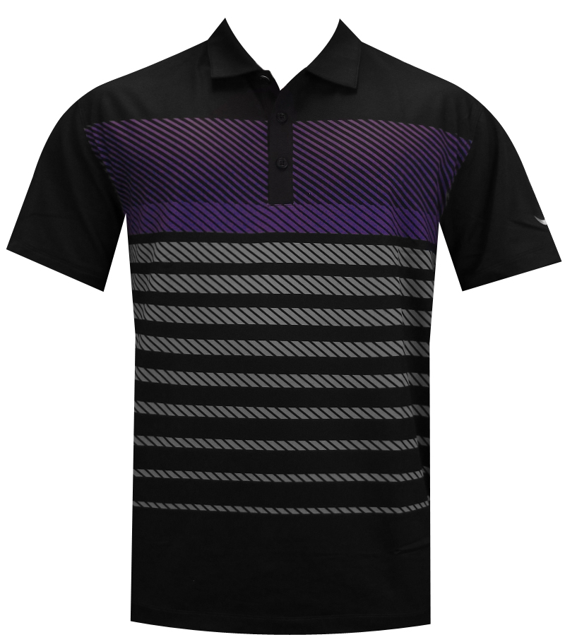 NIKE SPORT STRIPE POLO BLACK - AW14 620082-010 CLOSEOUT