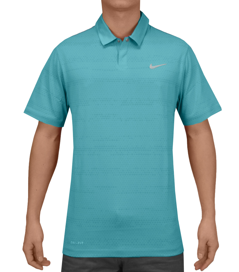 TIGER WOODS AIR FLOW JACQUARD POLO CLEARWATER - SS15 CLOSEOUT 639823-401 CLOSEOUT