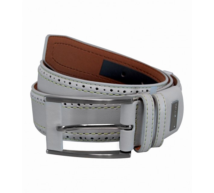 NIKE GOLF TOUR PERFORATED EDGE PREMIUM BELT LT BASE GREY - SS15 CLOSEOUT