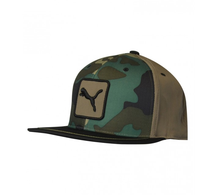 PUMA CAT PATCH 3 COLOR 110 SNAPBACK CAP CAMO - SS15