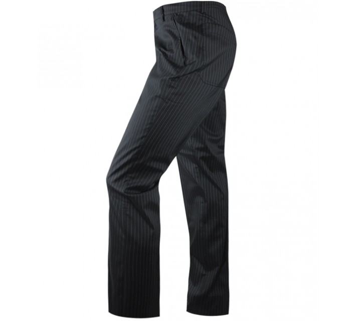 ABACUS CLEEK GOLF TROUSERS BLACK PINSTRIPE - SS15