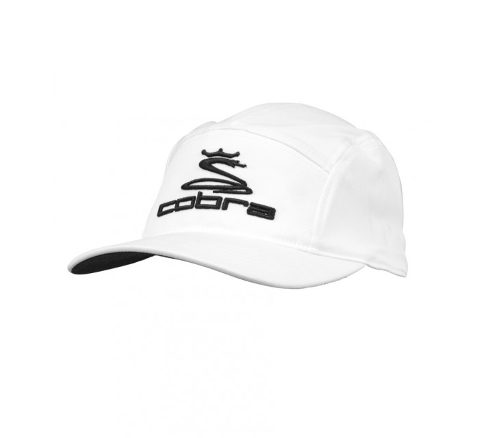 COBRA TOUR 5 PANEL CAP WHITE - AW16