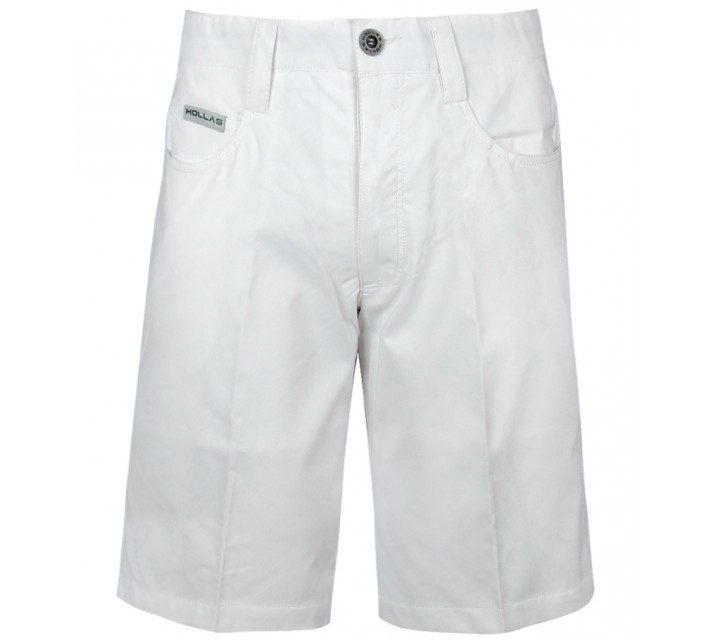 HOLLAS SOLID FIVE POCKET SHORT WHITE - CORE