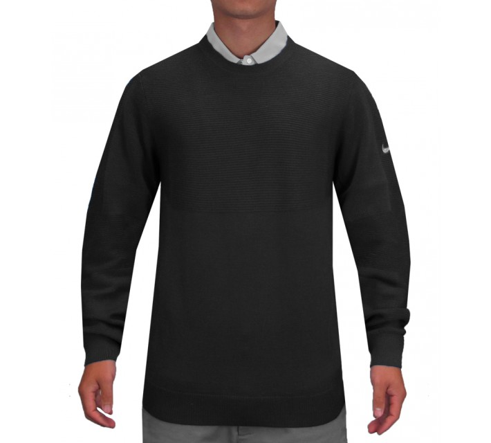 TIGER WOODS ENGINEERED SWEATER BLACK - SS15 CLOSEOUT