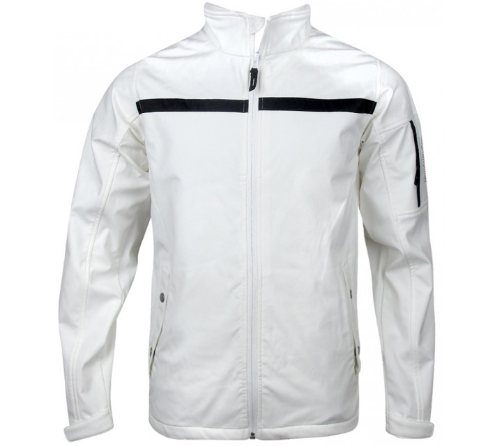 ABACUS BELFORD SOFTSHELL JACKET WHITE - SS15