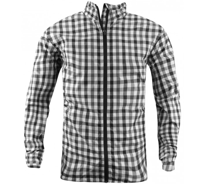 ABACUS TRACE CHECK WIND JACKET BLACK - CORE