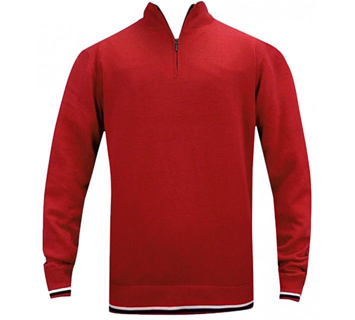 ABACUS DUBSON WIND STOP PULLOVER RED - SS16