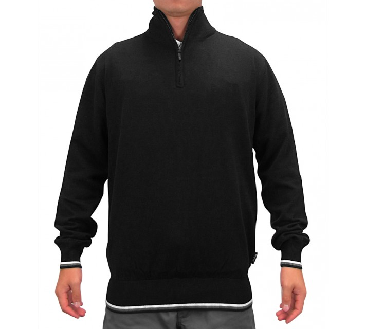 ABACUS DUBSON WIND STOP PULLOVER BLACK - AW15