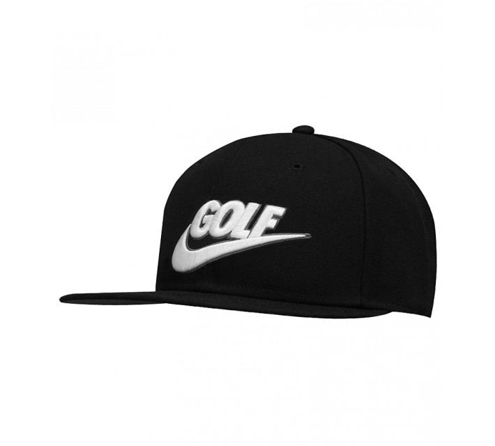 NIKE GOLF TRUE BADGE CAP BLACK/WHITE - SS15 CLOSEOUT