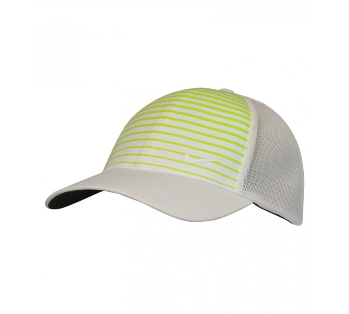 NIKE GOLF LEGACY PRINTED MESH CAP WHITE/VOLT - SS15 CLOSEOUT