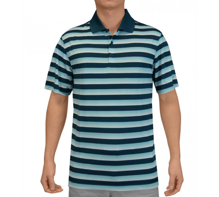 NIKE TECH VENT STRIPE POLO BLUE FORCE - SS15 CLOSEOUT