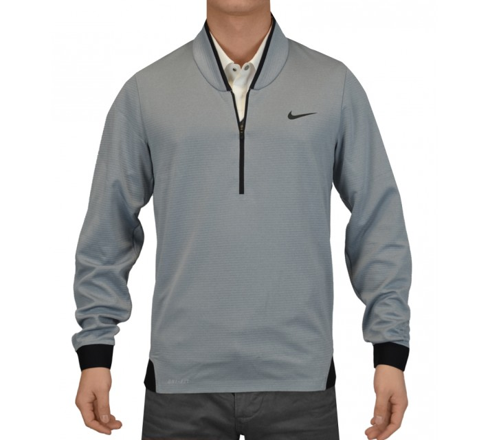 TIGER WOODS CYPRESS SHIELD 1/2 ZIP TOP DOVE GREY - SS15 CLOSEOUT
