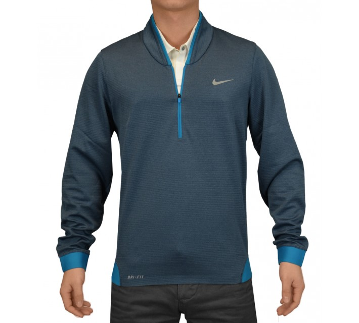 TIGER WOODS CYPRESS SHIELD 1/2 ZIP TOP BLUE FORCE - SS15 CLOSEOUT