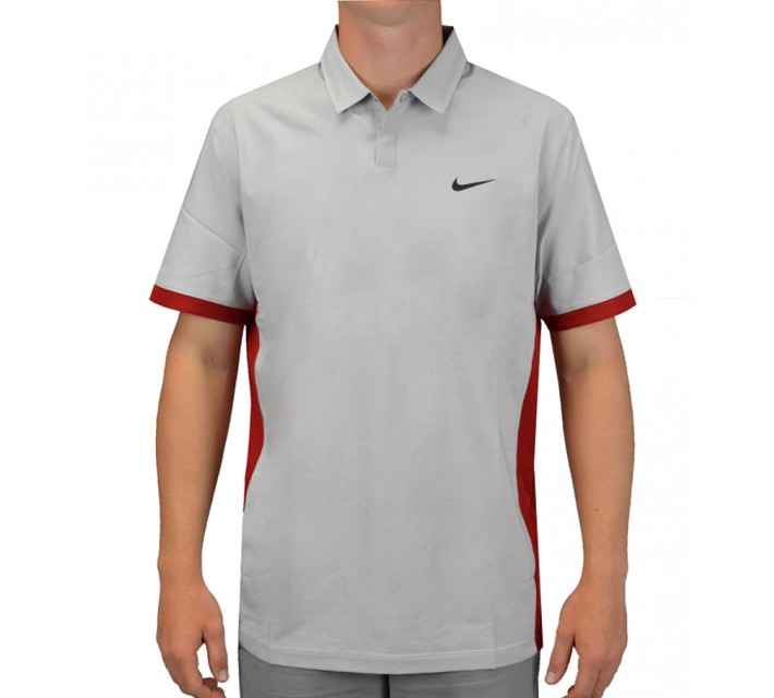 TIGER WOODS COOL FORMATION POLO WOLF GREY - SS15 CLOSEOUT