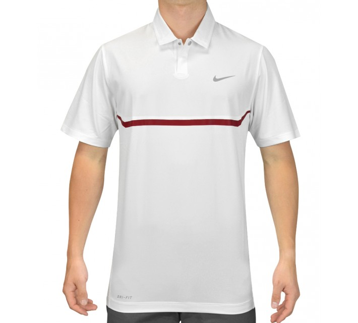 TIGER WOODS ELITE COOL CARBON POLO WHITE - SS15