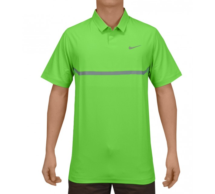 TIGER WOODS ELITE COOL CARBON POLO POISON GREEN - SS15 CLOSEOUT