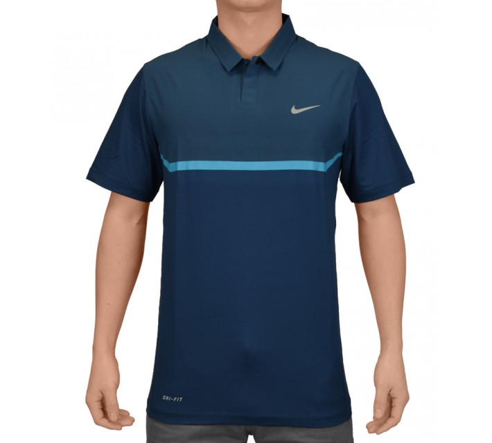 TIGER WOODS ELITE COOL CARBON POLO BLUE FORCE - SS15 CLOSEOUT