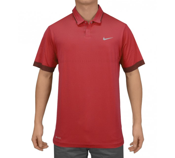 TIGER WOODS PERFORATED POLO DARING RED - SS15 CLOSEOUT