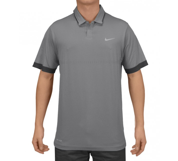 TIGER WOODS PERFORATED POLO DOVE GREY - SS15 CLOSEOUT
