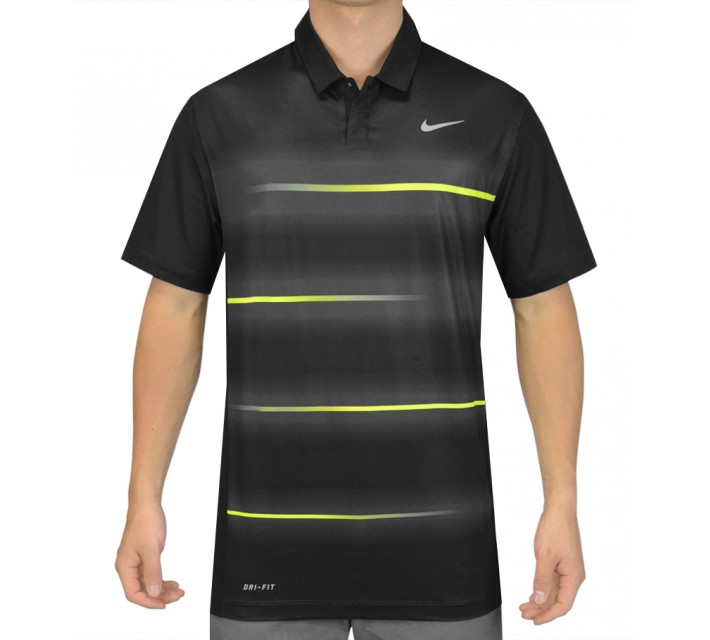 TIGER WOODS VAPOR TRAIL POLO BLACK - SS15 CLOSEOUT