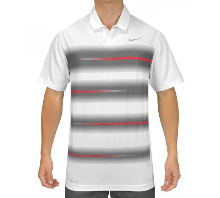 TIGER WOODS VAPOR TRAIL POLO WHITE/UNIVERSITY RED - SS15 CLOSEOUT