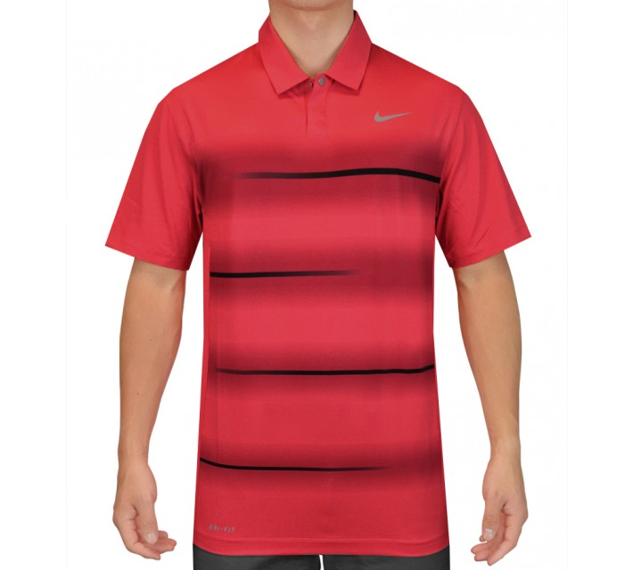 TIGER WOODS VAPOR TRAIL POLO DARING RED - SS15 CLOSEOUT
