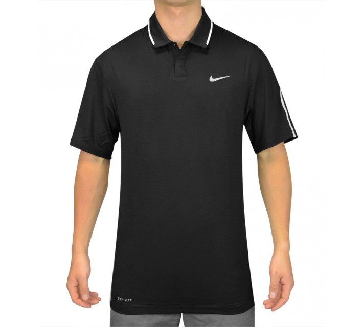 TIGER WOODS GLOW POLO BLACK - SS15 CLOSEOUT