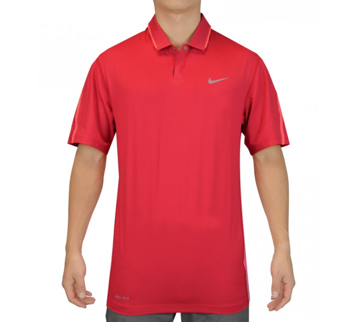 TIGER WOODS GLOW POLO UNIVERSITY RED - SS15 CLOSEOUT