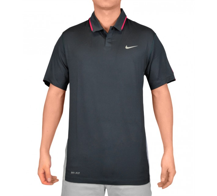 TIGER WOODS GLOW POLO CLASSIC CHARCOAL - SS15 CLOSEOUT