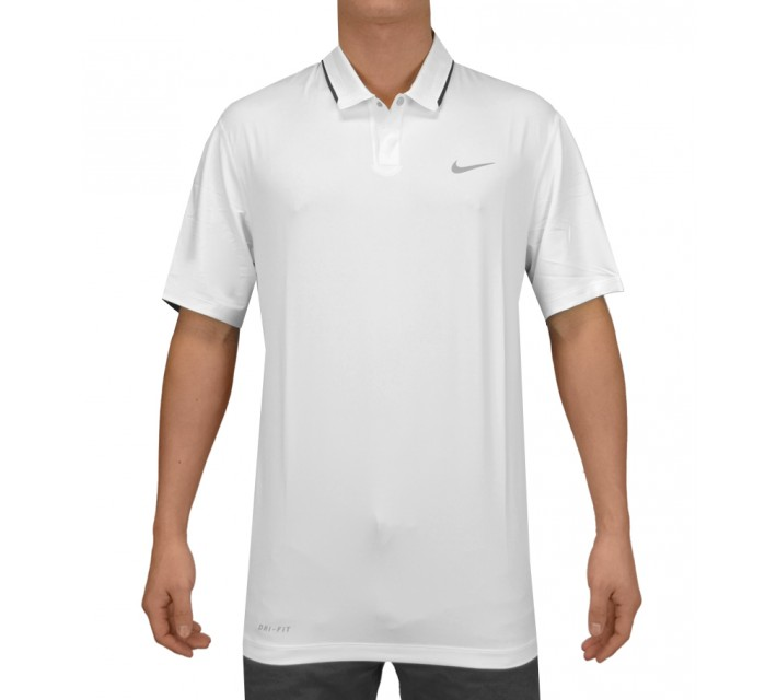 TIGER WOODS GLOW POLO WHITE - SS15 CLOSEOUT