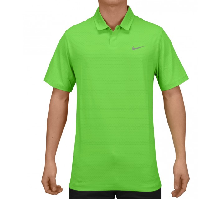 TIGER WOODS AIR FLOW JACQUARD POLO POISON GREEN - SS15 CLOSEOUT