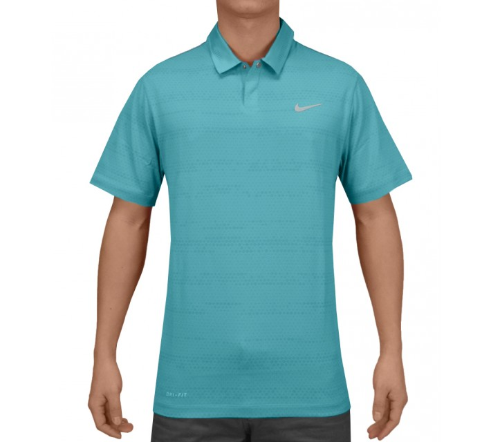 TIGER WOODS AIR FLOW JACQUARD POLO CLEARWATER - SS15 CLOSEOUT