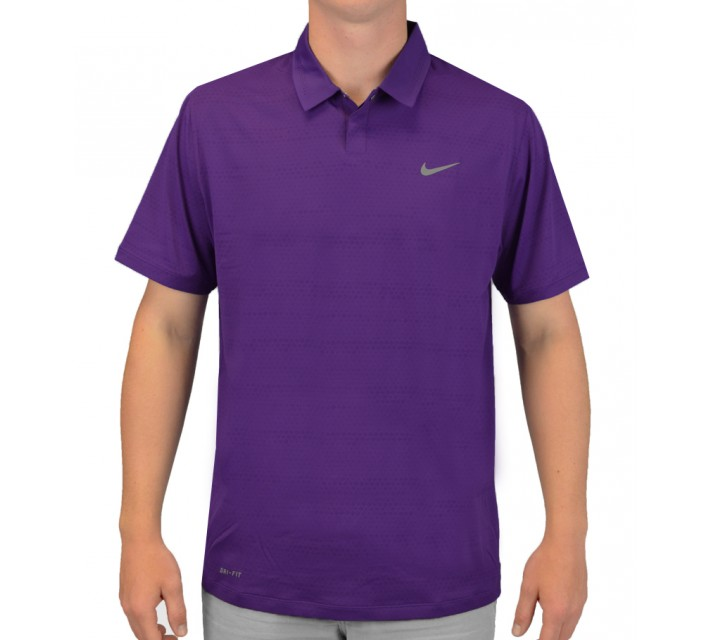 TIGER WOODS AIR FLOW JACQUARD POLO COURT PURPLE - SS15 CLOSEOUT