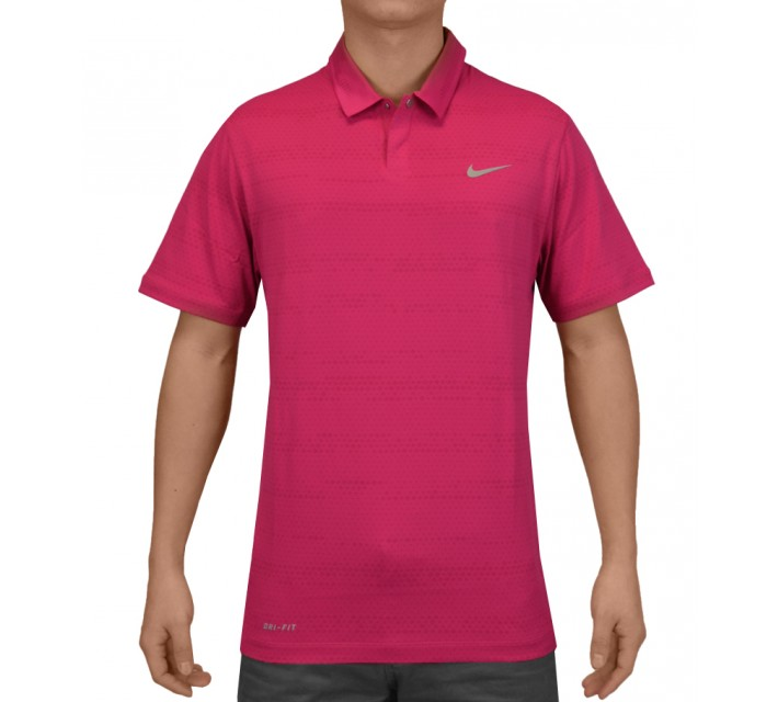 TIGER WOODS AIR FLOW JACQUARD POLO FIREBERRY - SS15 CLOSEOUT