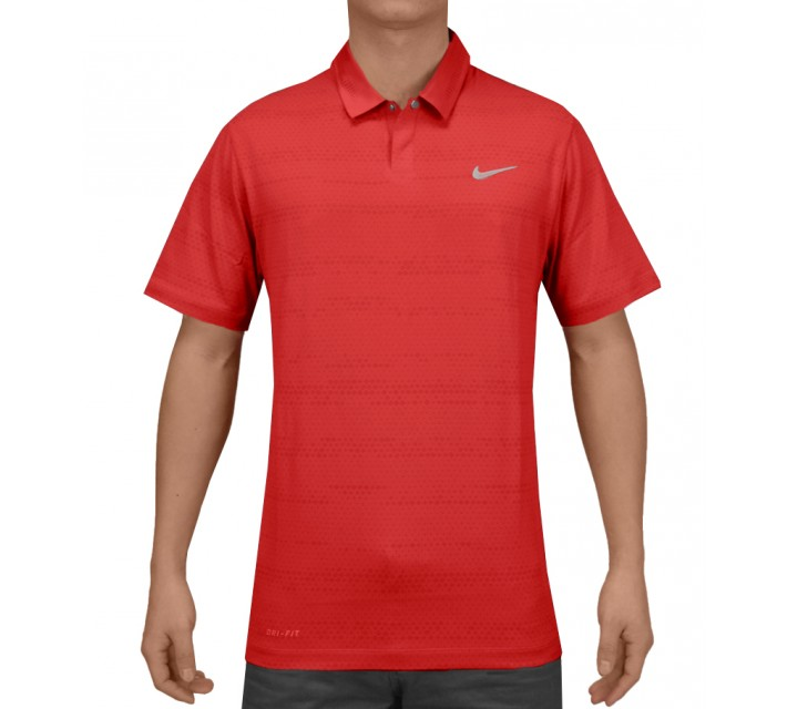 TIGER WOODS AIR FLOW JACQUARD POLO DARING RED - SS15 CLOSEOUT