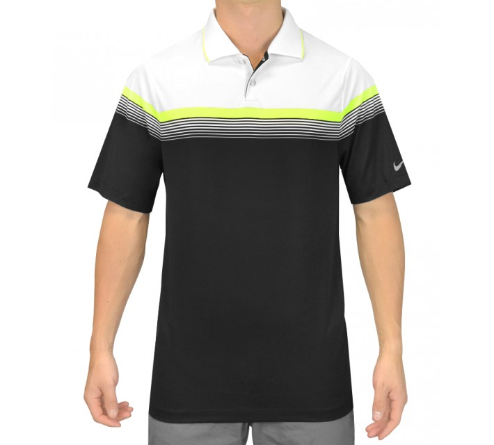 NIKE MAJOR MOMENT POLO BLACK - SS15 CLOSEOUT