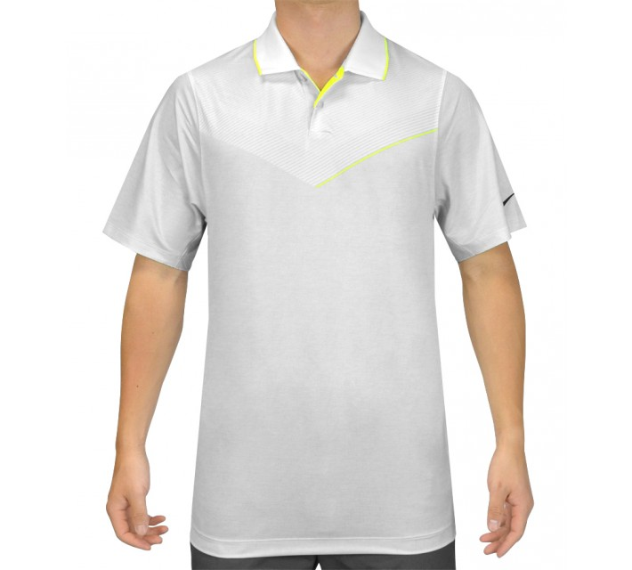 NIKE MAJOR MOMENT LAUNCH POLO WHITE - SS15 CLOSEOUT