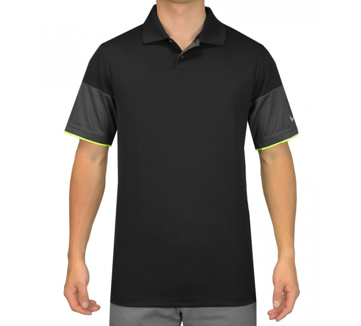 NIKE MAJOR MOMENT COMMANDER POLO BLACK - SS15 CLOSEOUT