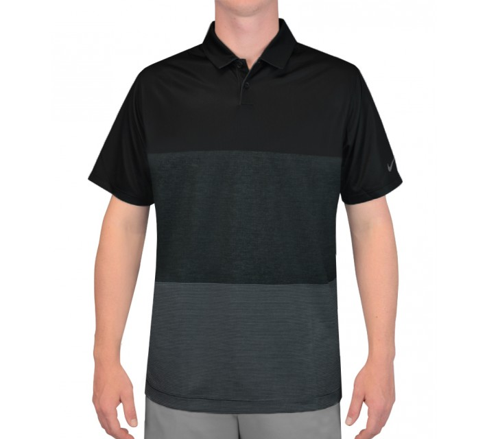 NIKE MAJOR MOMENT NAVIGATOR POLO BLACK - SS15 CLOSEOUT