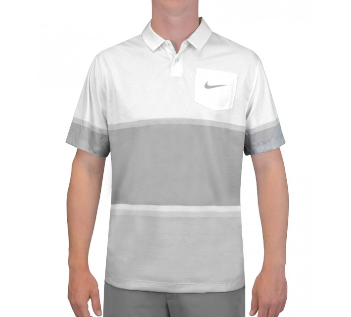 NIKE PATCH POCKET POLO WHITE - SS15 CLOSEOUT
