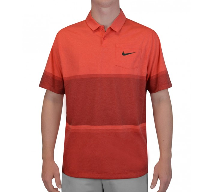 NIKE PATCH POCKET POLO DARING RED - SS15 CLOSEOUT