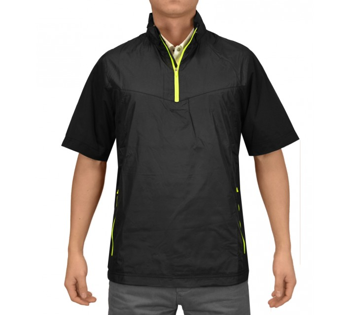 NIKE GOLF SHIELD SS 1/2 ZIP PULLOVER BLACK - AW15 CLOSEOUT