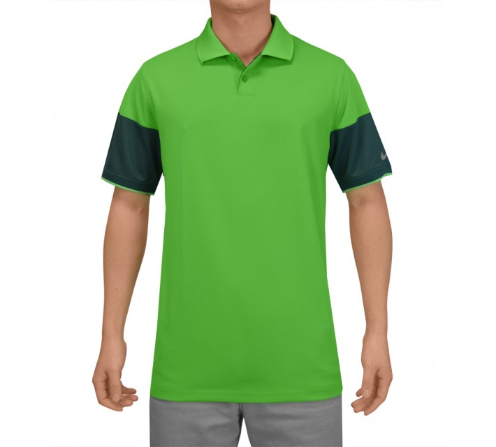 NIKE MAJOR MOMENT COMMANDER POLO LT GREEN SPARK - SS15 CLOSEOUT