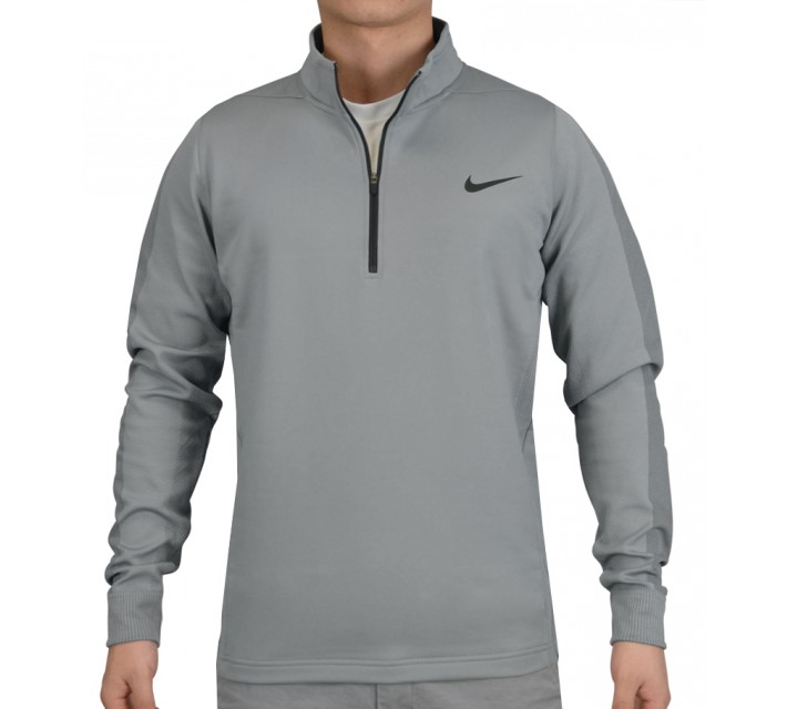NIKE THERMA-FIT ENGINEERED 1/2 ZIP TOP DOVE GREY - SS15 CLOSEOUT