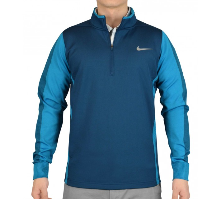 NIKE THERMA-FIT ENGINEERED 1/2 ZIP TOP BLUE FORCE - SS15 CLOSEOUT