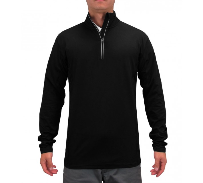ABACUS COLTON HALF-ZIP TURTLE NECK BLACK - SS15