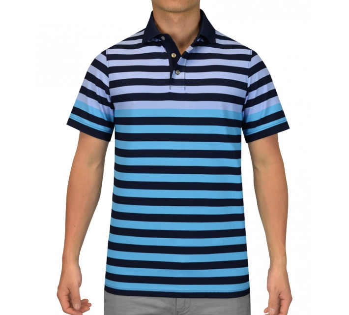 OSCAR JACOBSON VICK GOLF SHIRT BLUE - SS15
