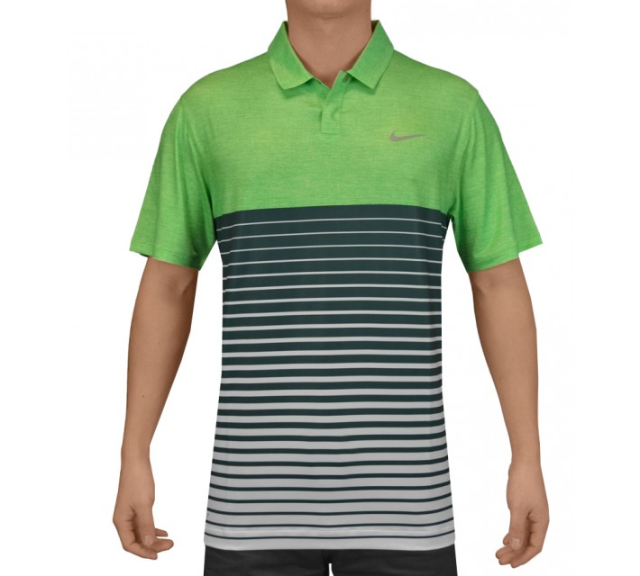 TIGER WOODS BOLD STRIPE POLO LT GREEN SPARK - SS15